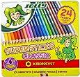 JOLLY 3000-0293 - Supersticks Classic, 24 Farben, Mine, Lernmaterialien, 3.8 mm…
