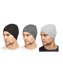 Huntsman Era Men's Cotton Helmet Liner Skull Cap (Free Size) Pack of 3