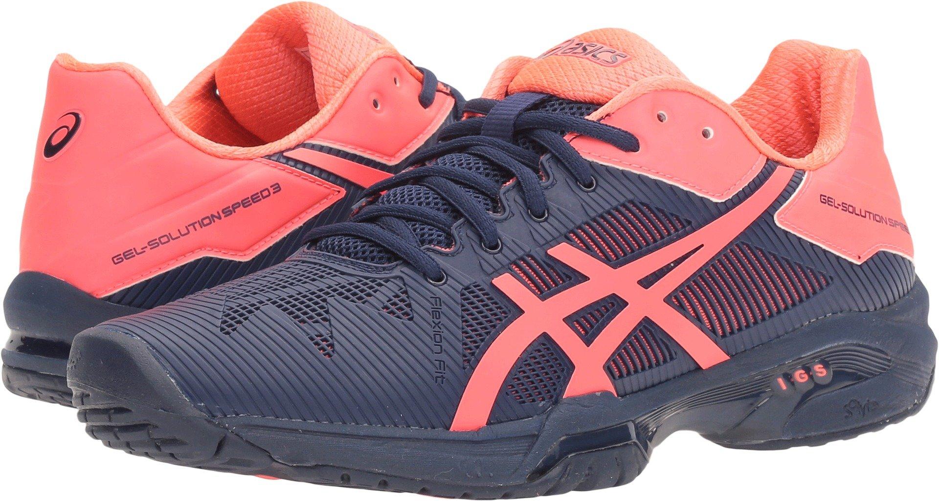 ASICS Women's Gel-Solution Speed 3 Tennis Shoe, Indigo Blue/Diva Pink, 6 M US