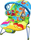 Just4baby Musical Melodies Soothing Vibration Baby Bouncer Bouncing Rocker Reclining Chair 3 Hanging Toys DINOSAUR Design
