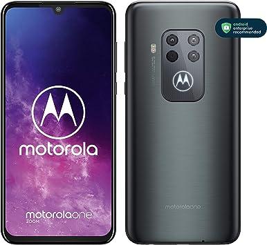 """Motorola One Zoom - Smartphone con Alexa Hands-Free, Pantalla 6,4"""" FHD+, Sistema de 4 cámaras, 128 GB/4 GB, Android 9.0, Dual SIM, Auriculares + Funda incluidos, Color Gris Eléctrico: Motorola: Amazon.es: Electrónica"""