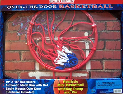 Sport Design Over The Door Basketball  Backboard U0026 Hoop