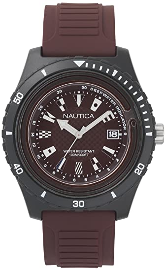 Nautica Reloj Analogico para Hombre de Cuarzo con Correa en Silicona NAPIBZ010: Amazon.es: Relojes