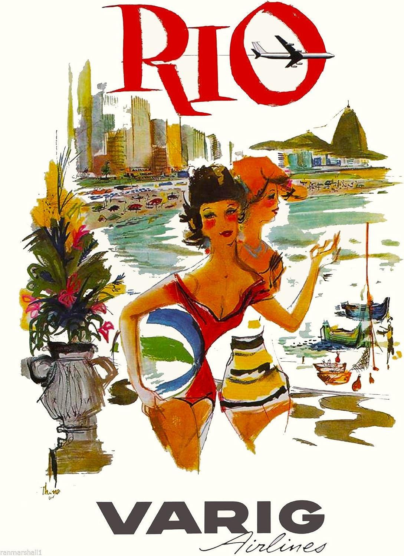 Bahia Brazil South America Rio American Vintage Travel Art Advertisement Poster