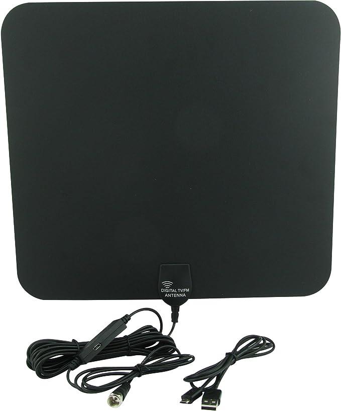 Super Power Supply ultra fino HDTV Antena de interior con fuente de alimentación externa para mayor gama