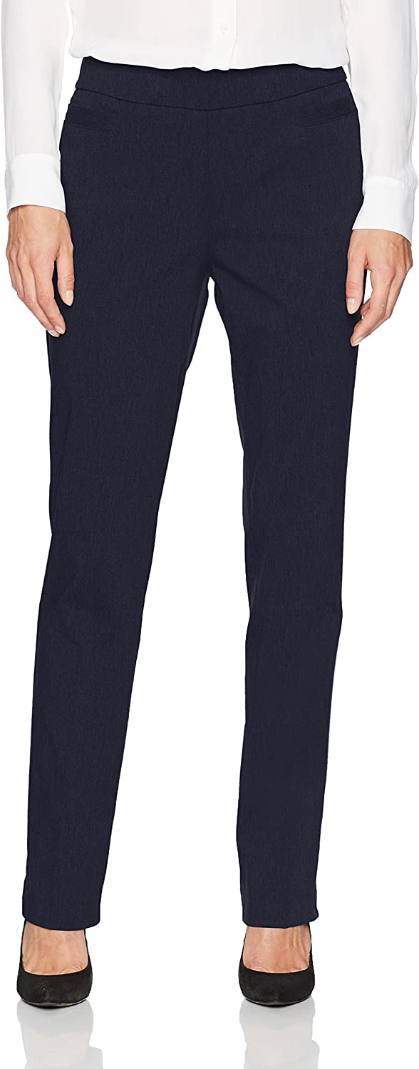 Navy 8 Briggs New York Womens Super Stretch Millennium Welt Pocket Pull on Career Pant