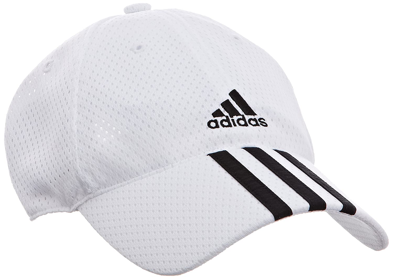 2233d8f9d59 adidas Climacool 3 Stripes Mesh Cap - White White 1 Black Black   Amazon.co.uk  Sports   Outdoors