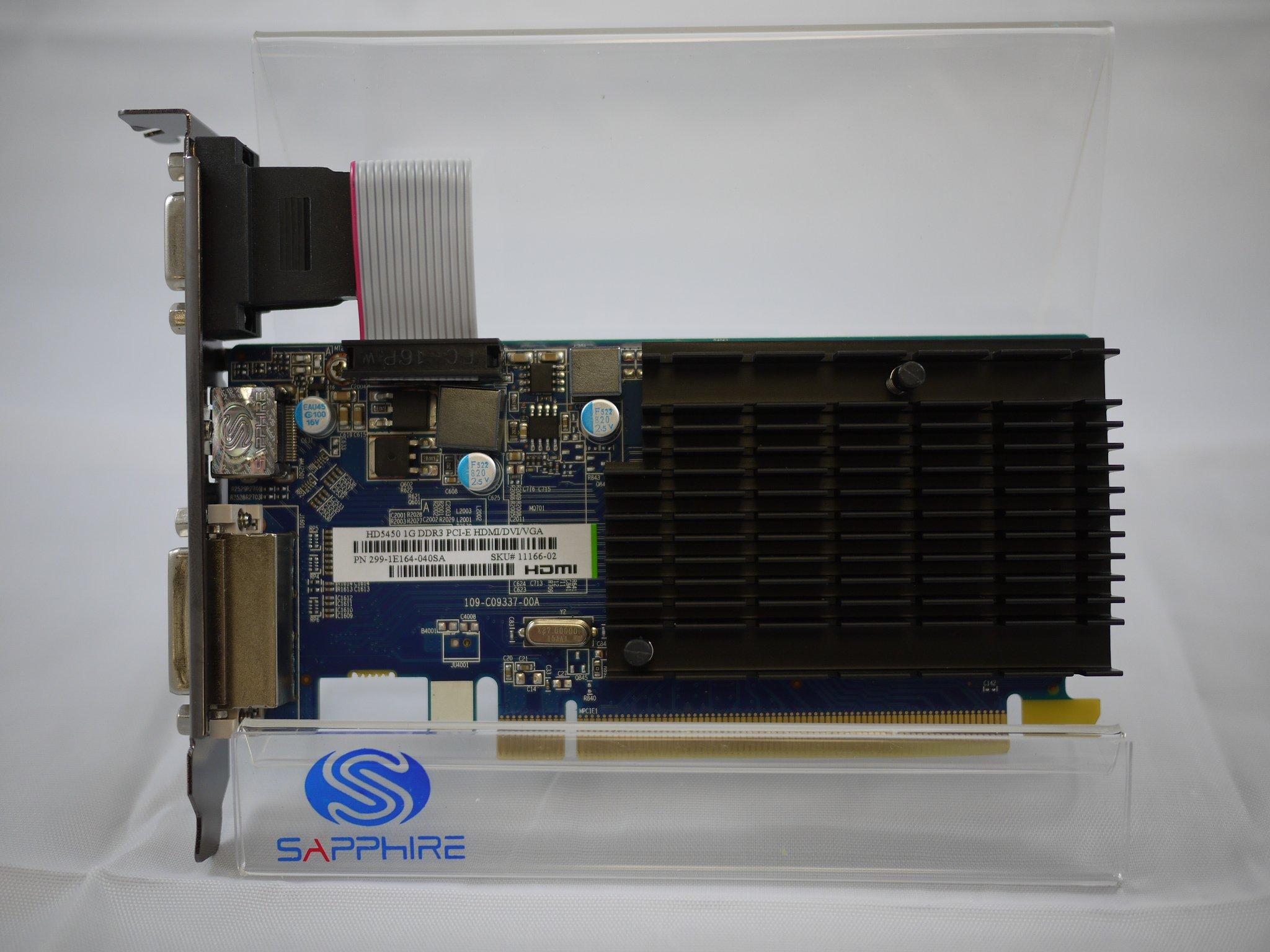 Sapphire Radeon HD 5450 1 GB DDR3 HDMI/DVI-D/VGA PCI-Express Graphics Card 100292DDR3L by Sapphire Technology (Image #3)