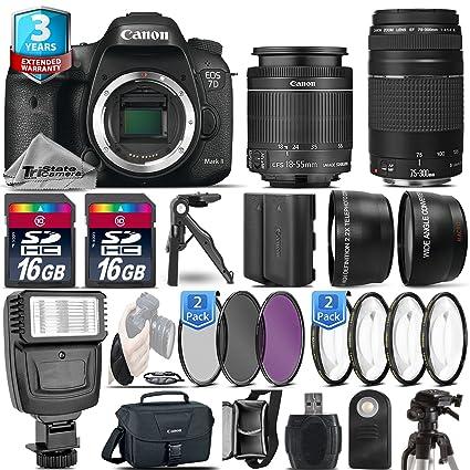 Amazon com : Canon EOS 7D Mark II DSLR Camera + Canon 18