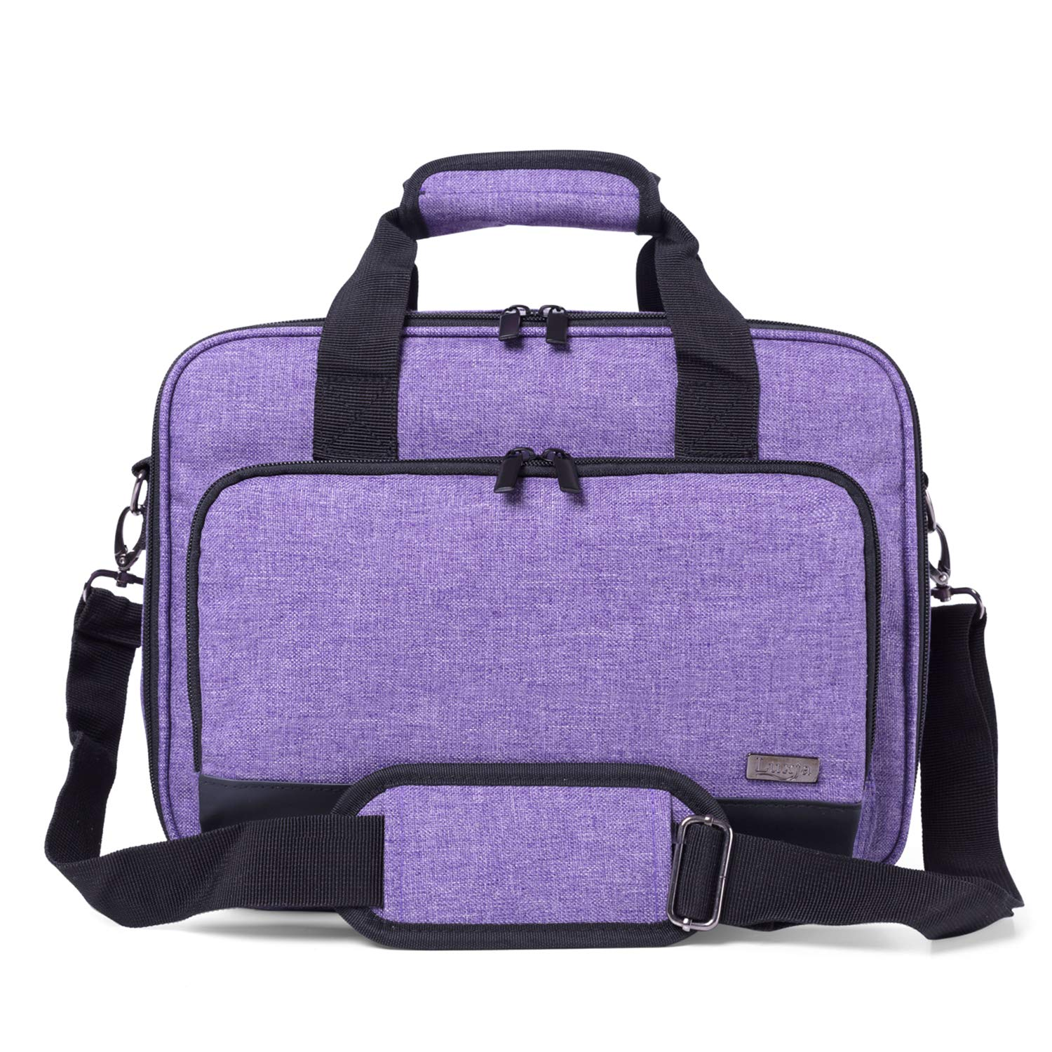 Purple Compatible with Most Major Projectors Projector Bag with Accessories Storage Pockets Luxja Projector Case