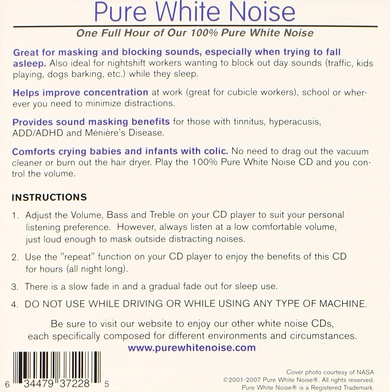 Pure White Noise   Pure White Noise   Cd: White Noise Machine Alternative
