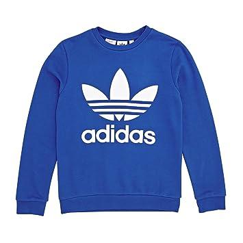 bluewhite Trf J Niños Sudadera Adidas Capucha Crew Sin Azul 4gSW5Rn8c