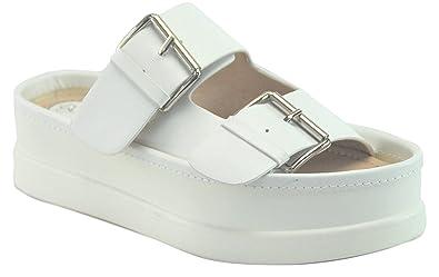 d7ac3bd7 Adelle Popular White Slip On Round Toe Top Comfortable Boho Nice Junior  Fashionable Sandalias Plataforma Tacon