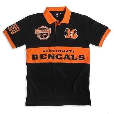 Klew NFL algodón Rugby Polo, Hombre, Naranja, Medium: Amazon.es ...
