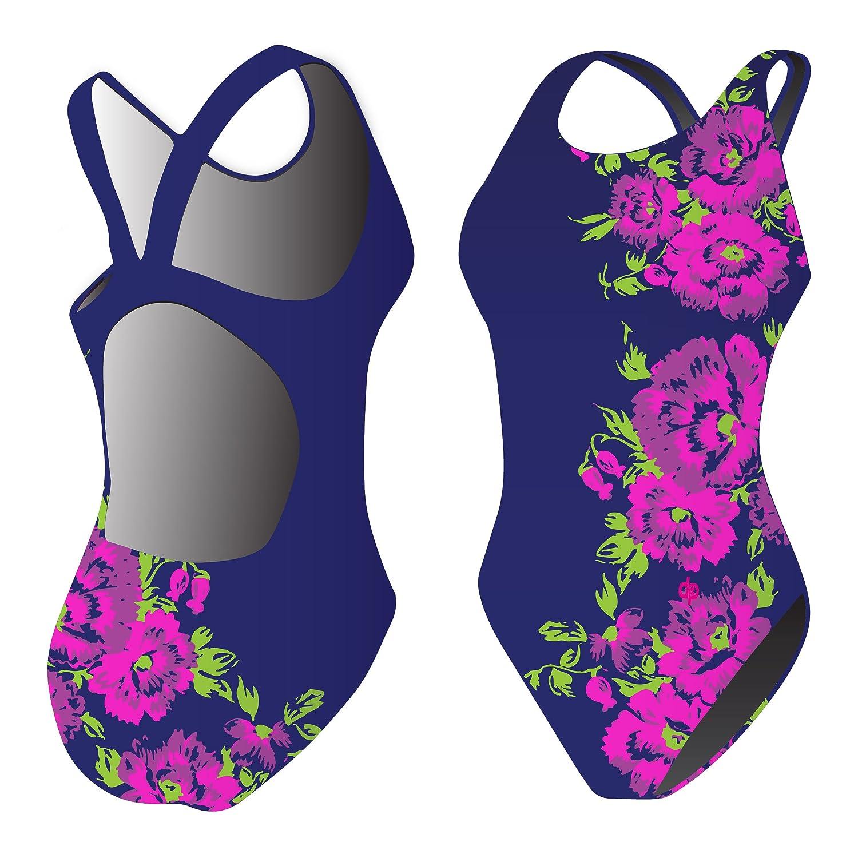 Diapolo Flower Badeanzug aus der Flowers Kollektion für Schwimmen Synchronschwimmen Wasserball Thriathlon