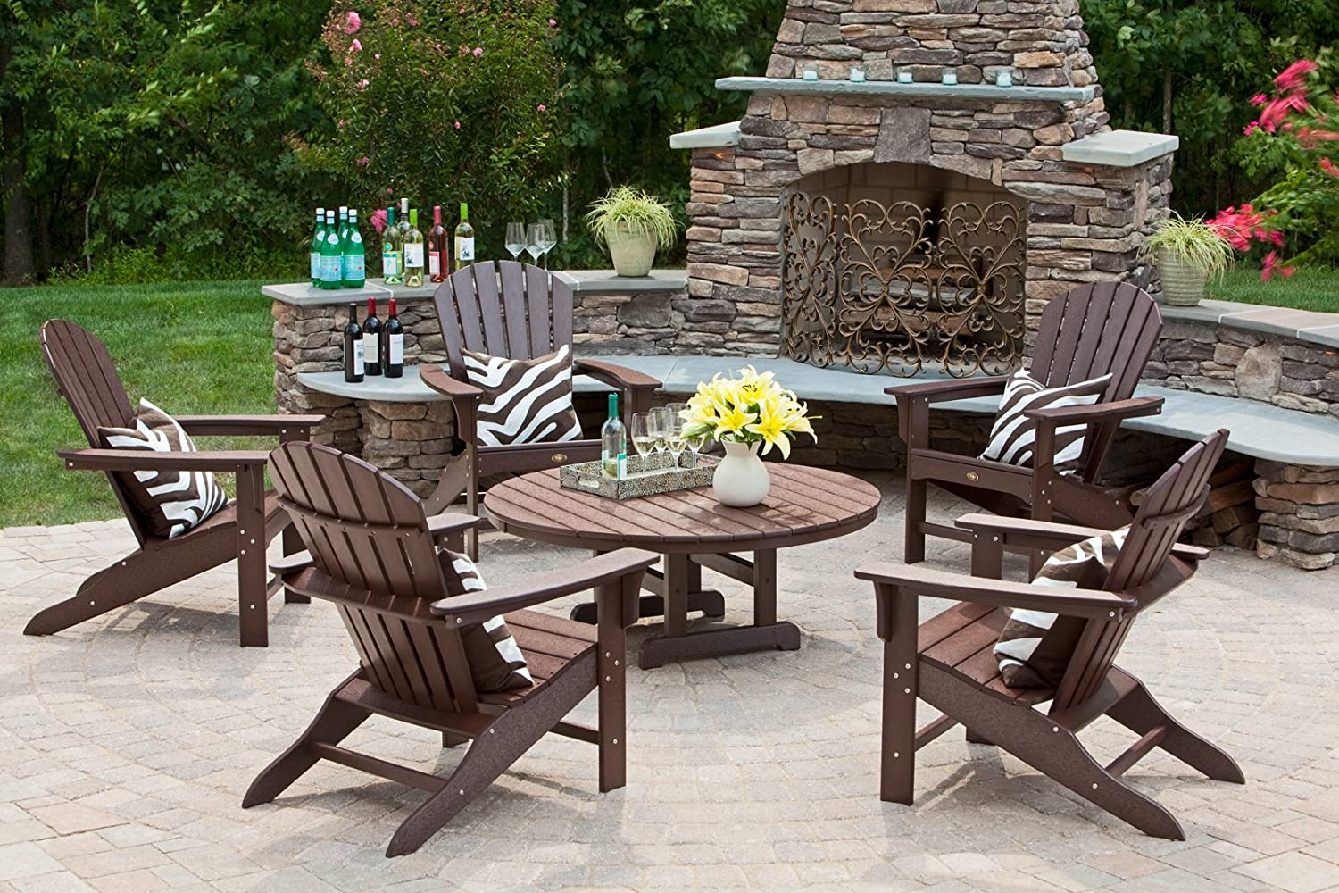 Amazon.com : Trex Outdoor Furniture Cape Cod Adirondack Chair, Stepping  Stone : Patio, Lawn U0026 Garden