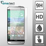 SmarTect® HTC One M8 / M8s Premium Panzerglas Display-Schutzfolie aus gehärtetem Tempered Glass   Gorilla-Glas mit Härtegrad 9H   Panzerfolie - Top-Schutzglas gegen Kratzer (0,33 mm, gerundete Kanten)