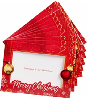 starpack christmas holiday greetings cardsphoto frame cards set 10 pack - 4x6 Photo Insert Christmas Cards