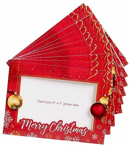 Amazon starpack christmas holiday greetings cardsphoto frame starpack christmas holiday greetings cardsphoto frame cards set 10 pack m4hsunfo