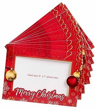 Amazon starpack christmas holiday greetings cards photo frame starpack christmas holiday greetings cards photo frame cards set 20 pack m4hsunfo