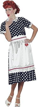 Fun World Women's Licensed I Lovelucy Polka Dot Dress