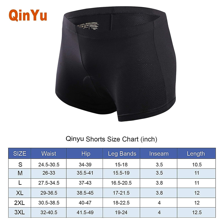 Women qinyu 3D Silicon Gel Padded Bike Underwear Shorts Breathable,Lightweight,Men