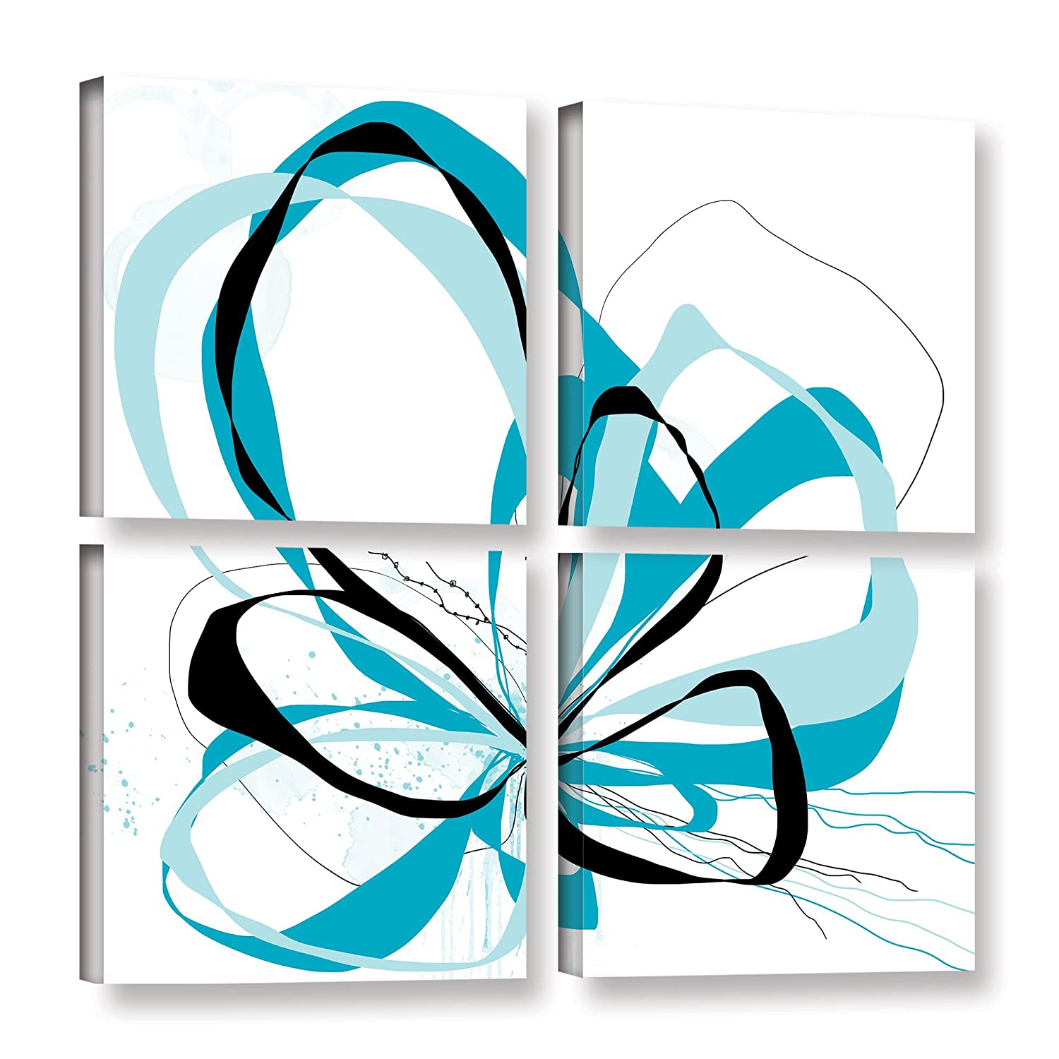 4 Piece Gallery Wrapped Canvas Square Set 36X36 ArtWall Jan Weisss Blue Knot
