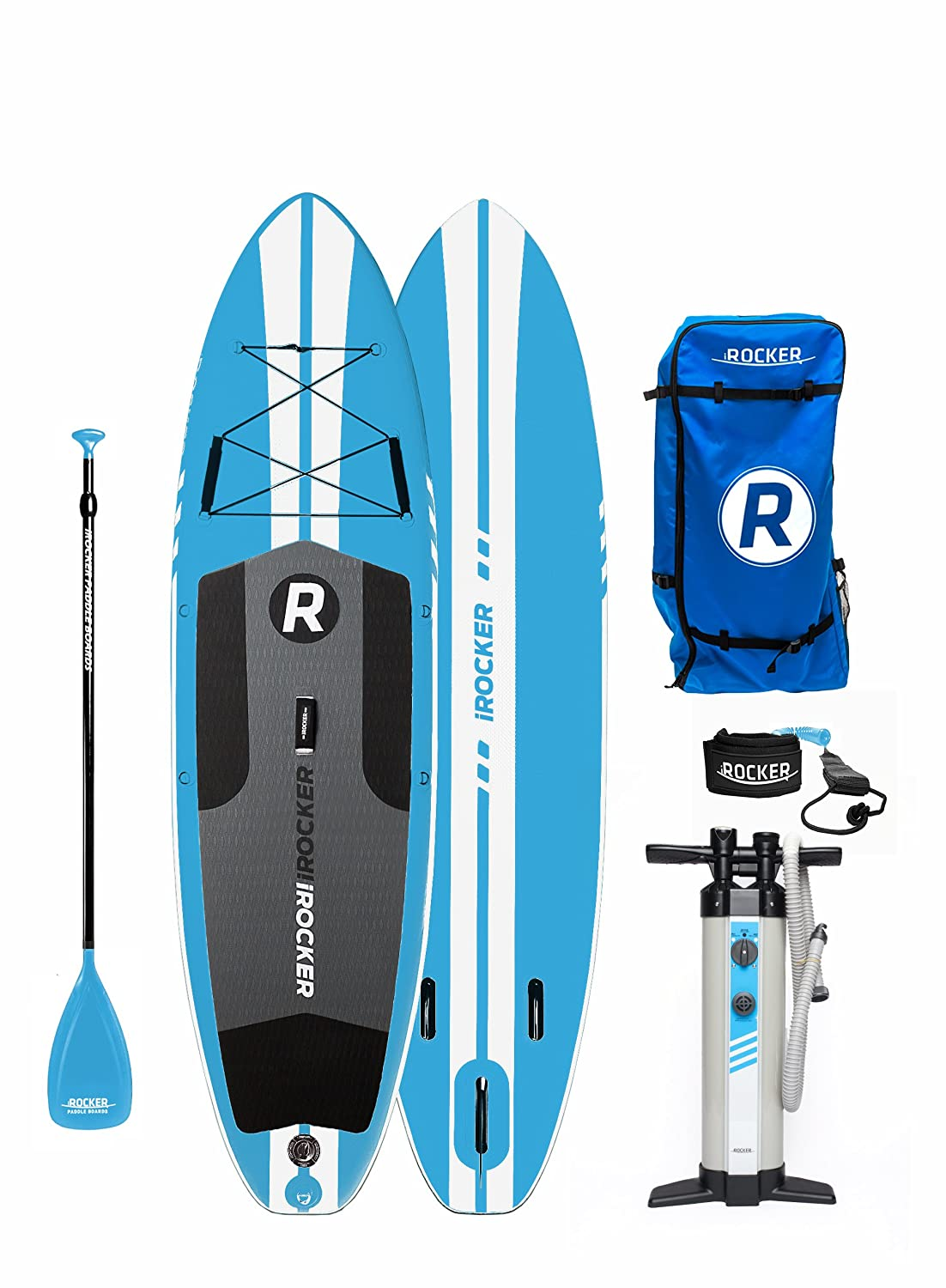 Tabla de paddle surf hinchable iRocker All-Around de 304 cm de largo x 81 cm de ancho x 15 cm de espesor, bolsa SUP, Blue 2018: Amazon.es: Deportes y aire ...