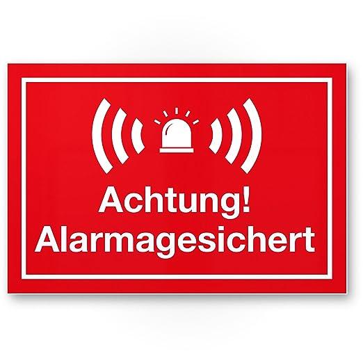 Advertencia Alarma gesic Hert Cartel (Rojo 30 x 20 cm ...