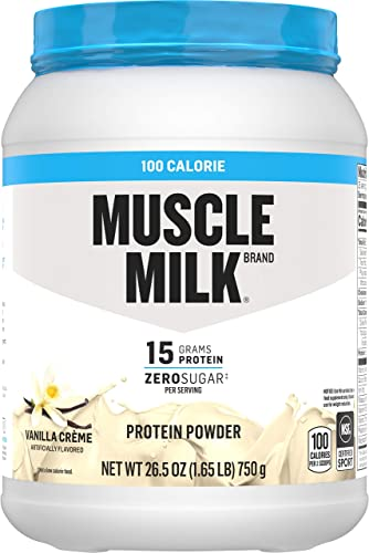 Muscle Milk 100 Calorie Protein Powder, Vanilla, 15g Protein, 1.65 Pound, 25 Servings