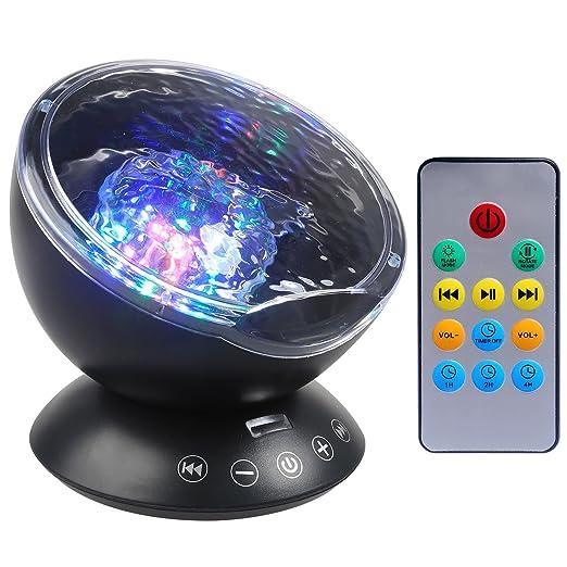 Luz de Proyector, Ballery Luz de Noche Lámpara de Proyector Con ...