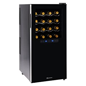 Wine-Enthusiast-Silent-32-Bottle-Wine-Refrigerator-Freestanding-Touchscreen-Dual-Zone-Wine-Cooler