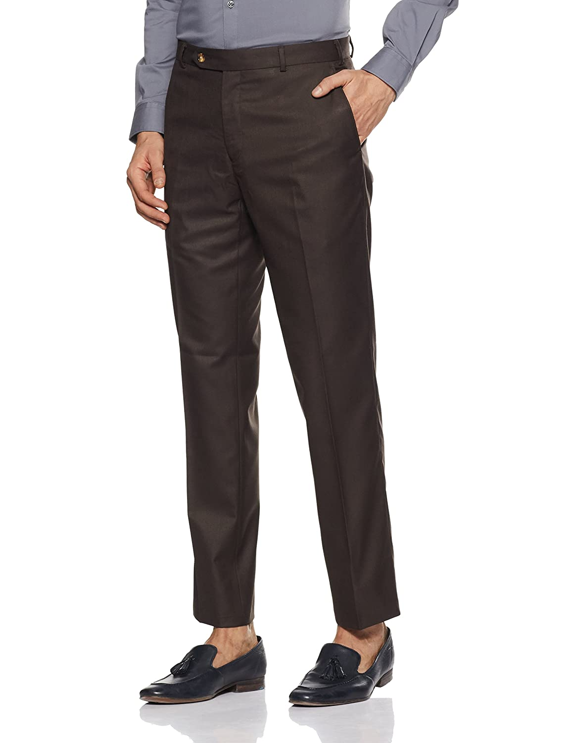 Raymond Men S Pleat Front Formal Trousers Amazon In Clothing
