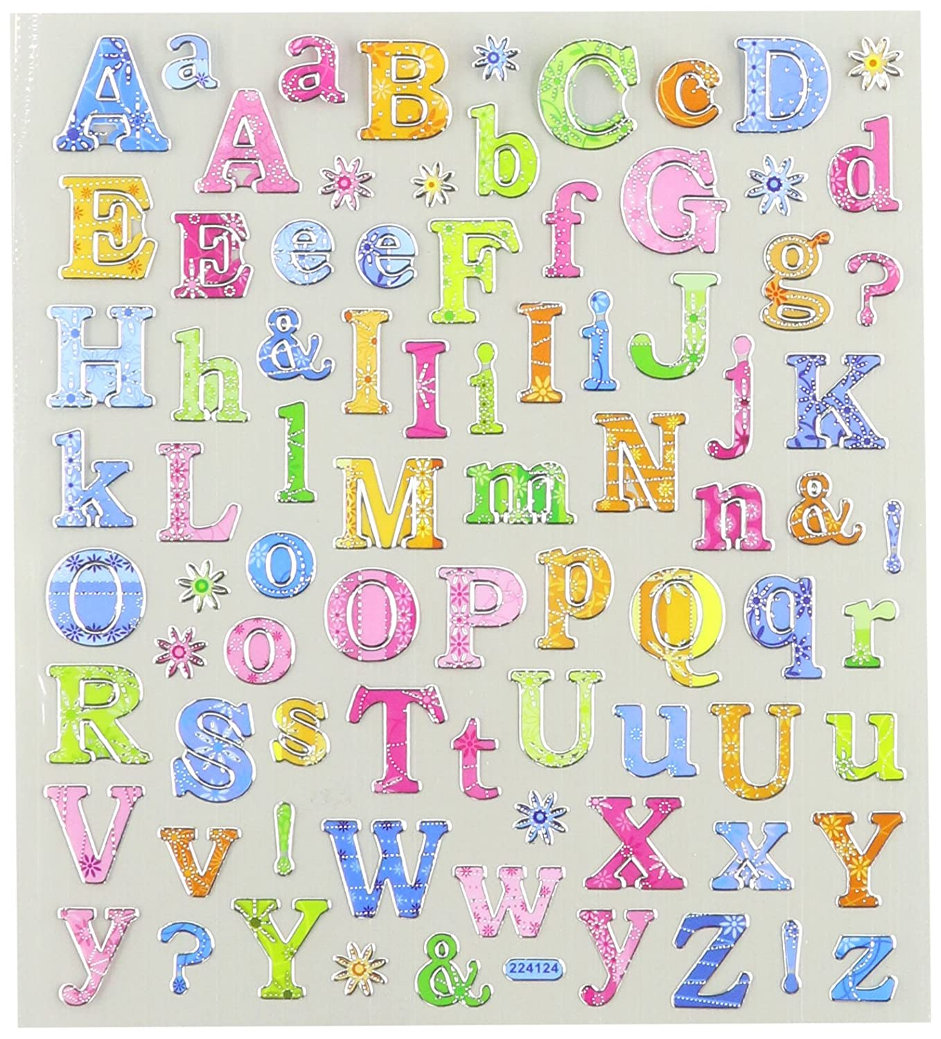 Tattoo King Multi-Colored Stickers-Tropical Letters SK129MC-4136