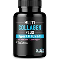 Multi Collagen Pills (Types I, II, III, V & X) - Collagen Peptides + Absorption Enhancer - Grass Fed Collagen Protein Blend for Anti-Aging, Hair, Skin, Nails, Joints & Digestion (90 Collagen Capsules)