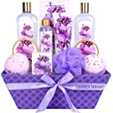 Green Canyon Spa Lavender Spa Gift Baskets for Women, Luxury 12 Pcs Christmas/Birthday Bath Gift Sets Including Bath…
