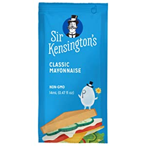 Sir Kensington's Mayonnaise, Classic Mayo Packets To Go, Gluten Free, Non- GMO, Certified Humane Free-Range Eggs, Shelf-Stable, 14ml 50 Count