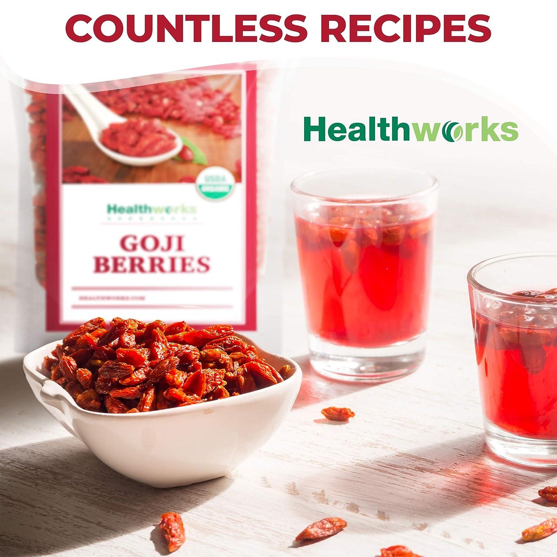 B00BSD9C5M Healthworks Raw Goji Berries (32 Ounces / 2 Pound)   Certified Organic & Sun-Dried   Keto, Vegan & Non-GMO   Baking, Teas & Smoothies   Antioxidant Superfood 81OEKATUU9L
