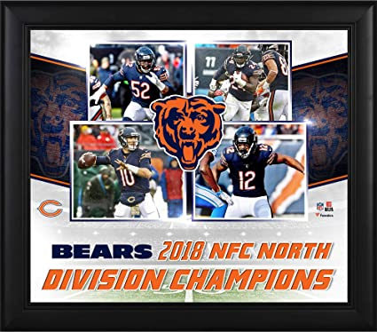 0587d33142797 Image Unavailable. Image not available for. Color  Chicago Bears Framed  15 quot  x 17 quot  2018 NFC North Division Champions ...