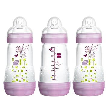Amazon.com: Botellas de bebé para bebés lactantes, botellas ...