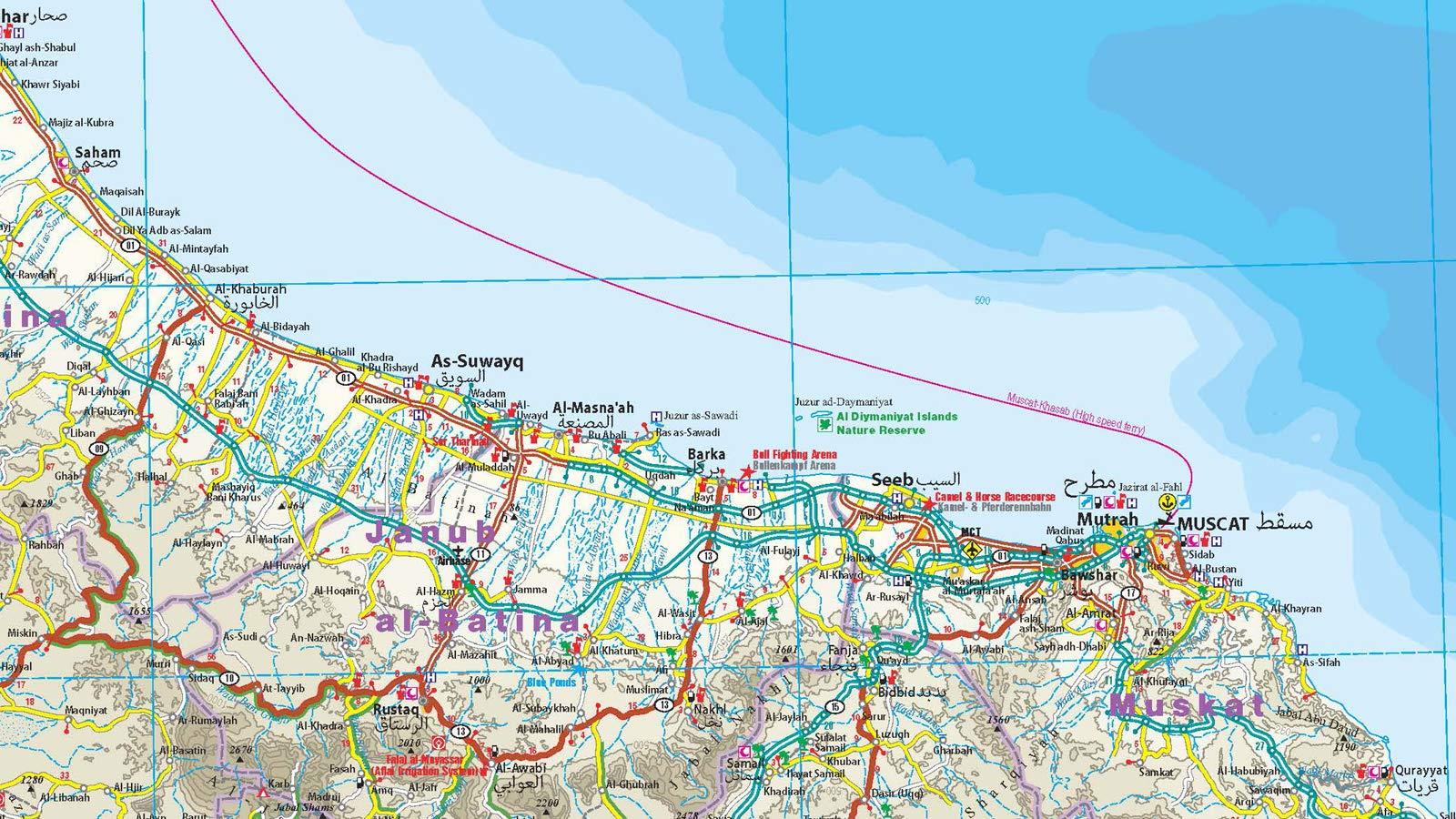 Karte Oman Kostenlos.Reise Know How Landkarte Oman 1 850 000 Reiss Und Wasserfest
