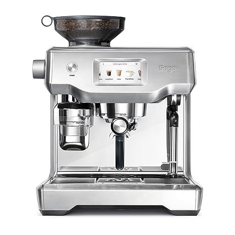Sage Appliances – Máquina de café espresso, acero inoxidable cepillado Pantalla táctil Tampern und Milchschaum