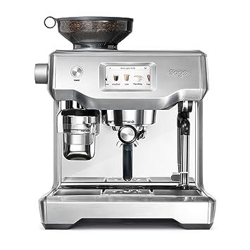 Sage Appliances - Máquina de café espresso, acero inoxidable cepillado Pantalla táctil Tampern und Milchschaum automatisch Brusched Steel: Amazon.es: Hogar