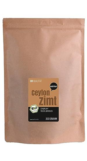 wohltuer bio Ceilán canela gemahlen – Canela polvo I Sabroso y saludable I 100% puro Producto natural I 3,6 g minerales a 100 g