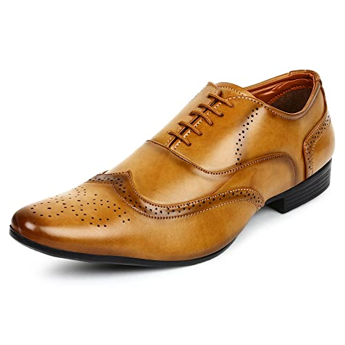 9ebd4809d58 BUWCH Men Brown Formal Brogue Shoe  Buy Online at Low Prices in India -  Amazon.in
