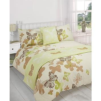 Just Contempo Parure de lit 5 pièces Motif papillons, Polyester ...