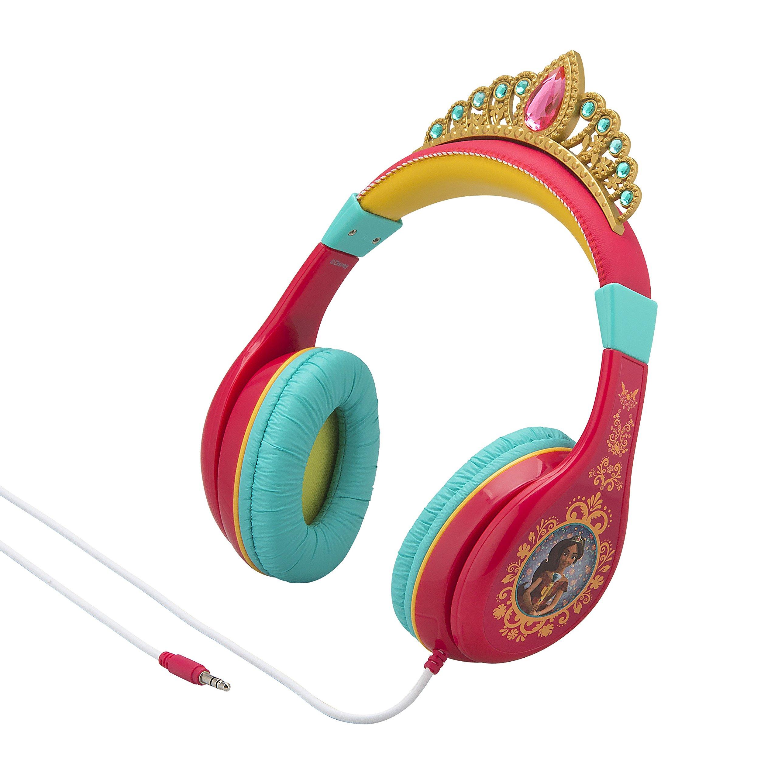 Disney Elena Of Avalor Headphones – Princess Elena Headphones With Crown Detailing! Volume Limiting Headphones In Fun Tiara Headphones Style