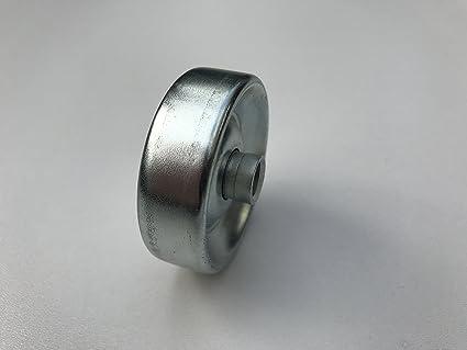 rueda roldana acero Ø 48 mm para transportador de ruedas riel carril de rodillos (pack