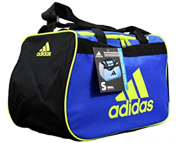 d5867bf3d4 Image Unavailable. Image not available for. Colour  Adidas Diablo Small  Duffel Gym Sports Bag Blue Neon Green