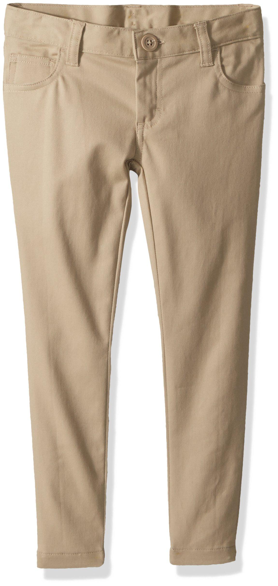 Classroom Uniforms Big Girls' 5 Pocket Stretch Skinny Pant, Khaki, 8